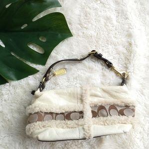 Cute coach Sherpa mini bag
